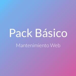 pack WP Básico, Mantenimiento web